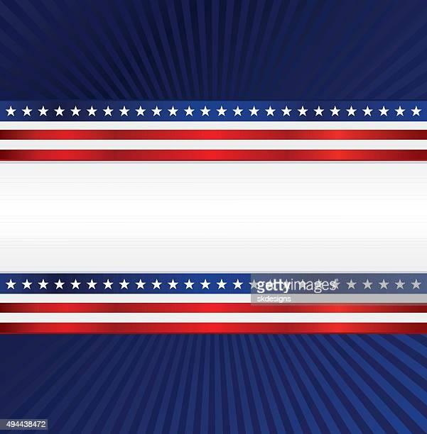 Sfondo patriottico: Rosso, bianco e blu con stelle e strisce
