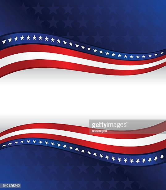 Fond patriotique: Rouge, blanc, bleu avec des étoiles et rayures
