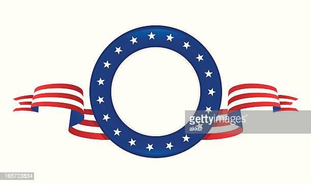 Stemma con bandiera degli Stati Uniti