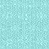 Pattern geometric line cube square seamless luxury design green aqua colors background.