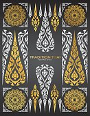 pattern thai tradition vector