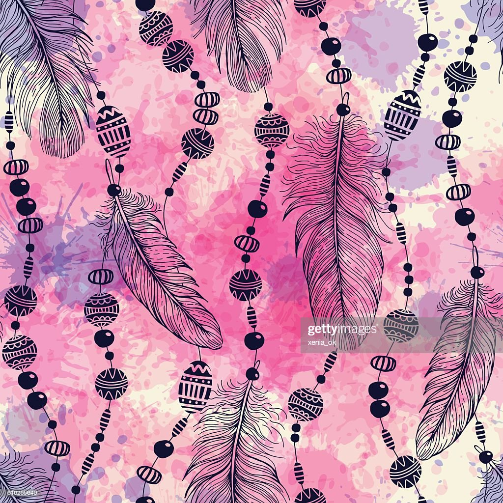 pattern with feathers : Vector Art
