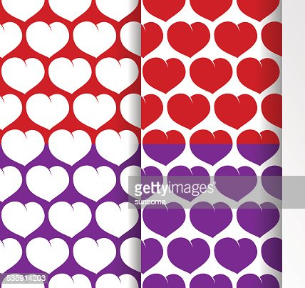 pattern with hearts : Vector Art