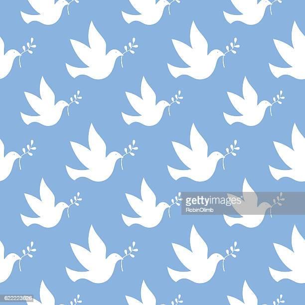 Peace Dove Seamless Pattern