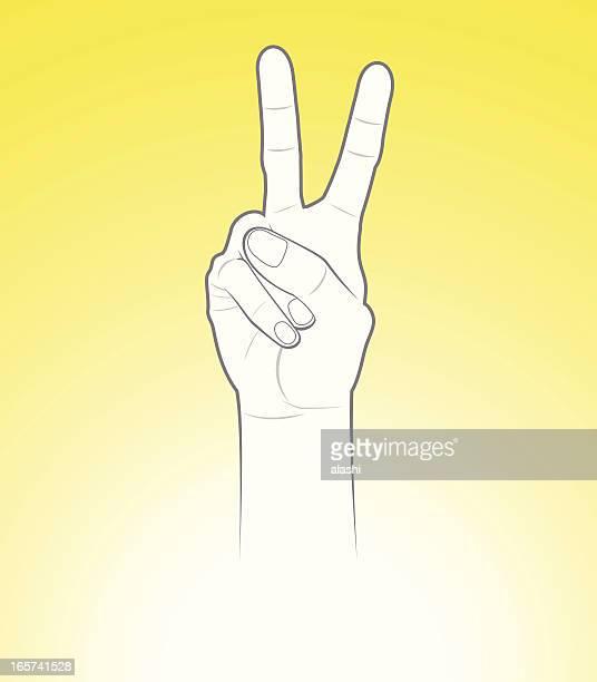 Signe de main de la paix