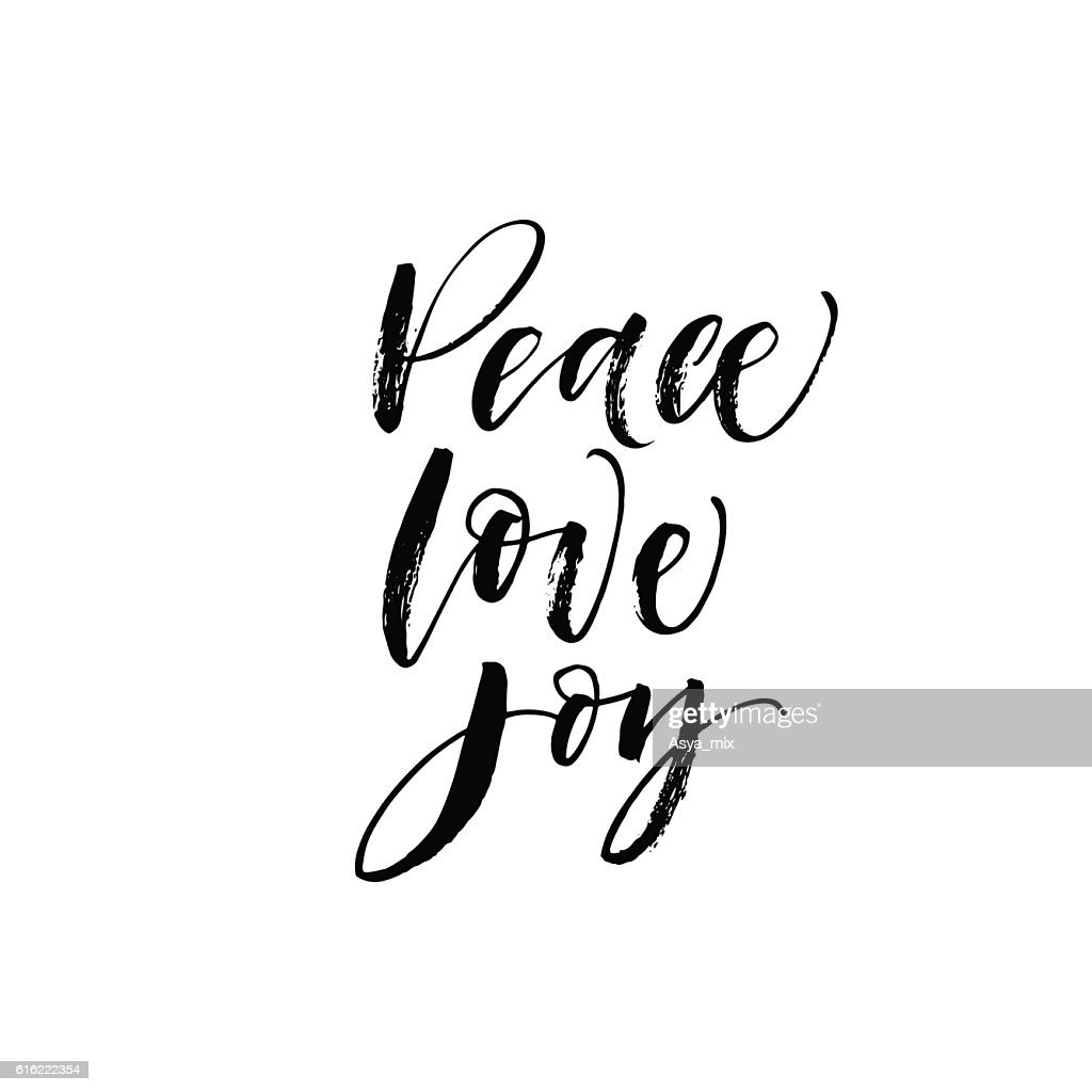 Peace, love, joy postcard. : Vector Art