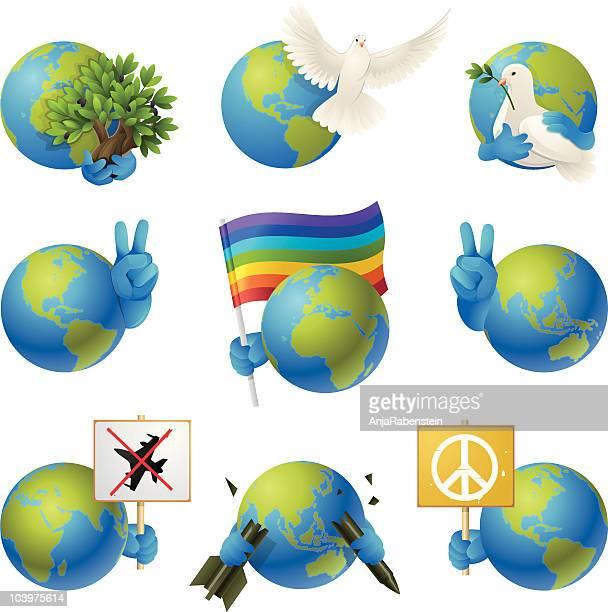 Peace on Earth Ensemble d'icônes