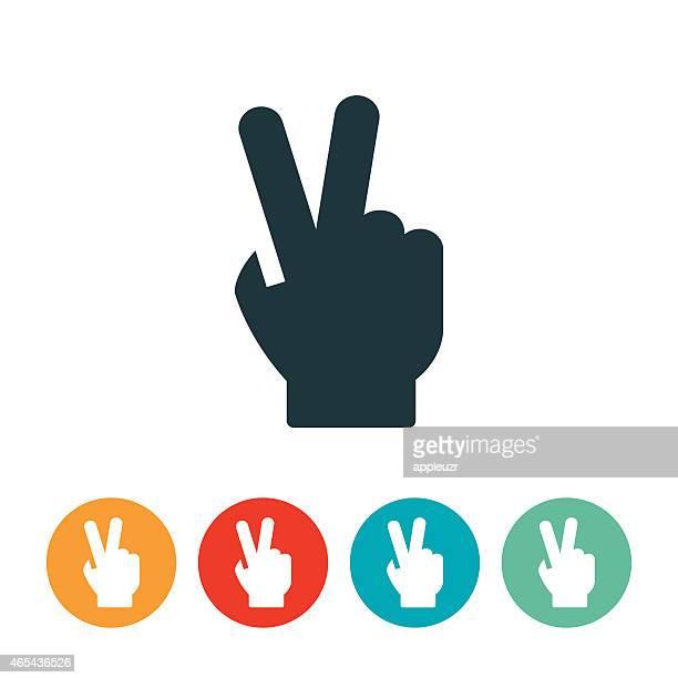 Icône de signe de main de la paix