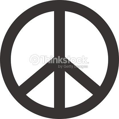 Peace Sign Hippie Symbol Of Peace Vector Art Thinkstock