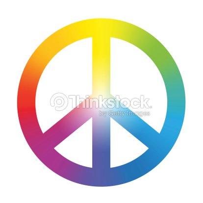 Peace Symbol Rainbow Gradient Vector Art Thinkstock