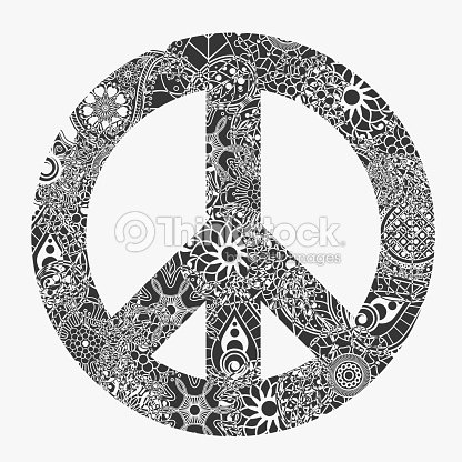 Peace Symbol Round Pacifism Sign Vector Art Thinkstock