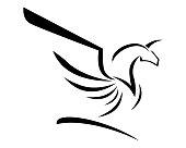 Pegasus Vector Logo Template vector illustration design