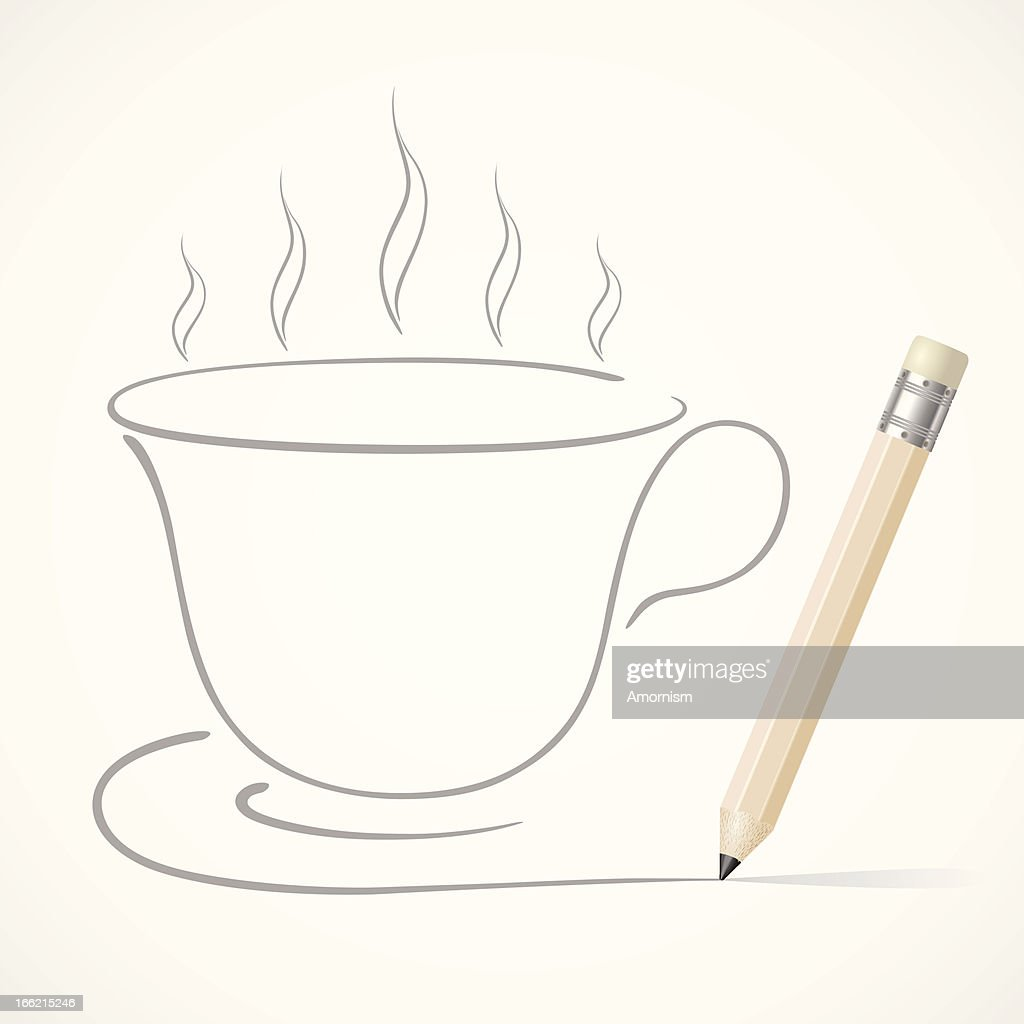 Coffee cup sketch - Pencil Drawing Coffee Cup Vector Art