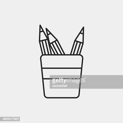 Icono de lápiz : Arte vectorial