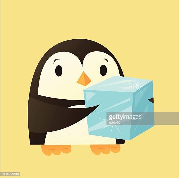 Pingüino con hielo