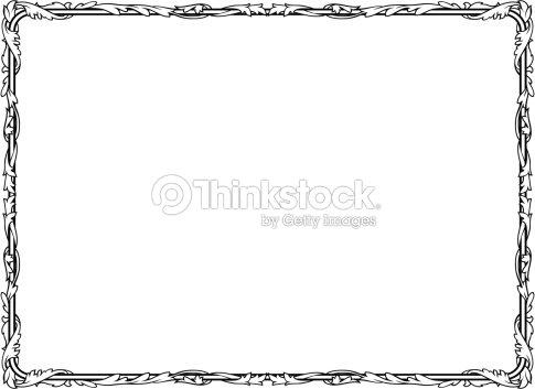 Penmanship Of A Curly Baroque Black Frame Vector Art | Thinkstock