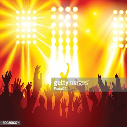 People at a concert : stock vector