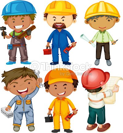 b319c5a7f7c69 People Doing Different Types Of Jobs stock vector - Thinkstock