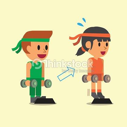 People Doing Standing Dumbbell Calf Raise Exercise Step Training
