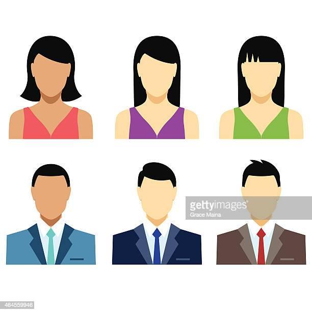 Menschen emojis oder-Avatare-Vektor