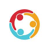 Social media network people logo