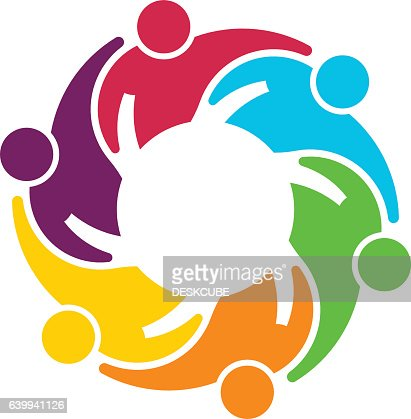 People Group Collaboration. Vector graphic design illustration : stock vector