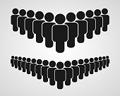 People group icon on the white background. Vector illustration