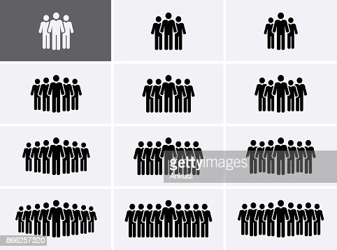 People Group Icons set. Crowd Icons. : Vector Art