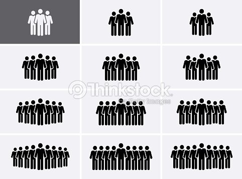 People Group Icons set. Crowd Icons. : stock vector