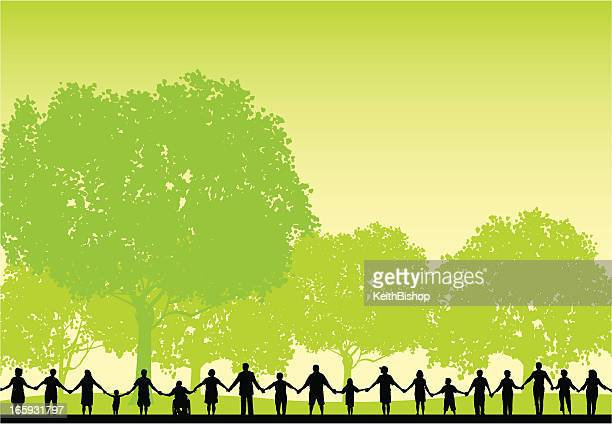 People Holding Hands - Healthy Lifestyle Background