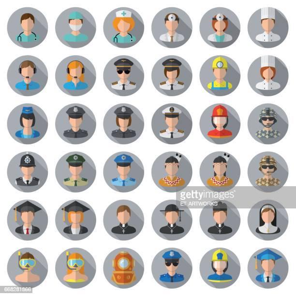 Mensen pictogrammenset - verschillende beroepen