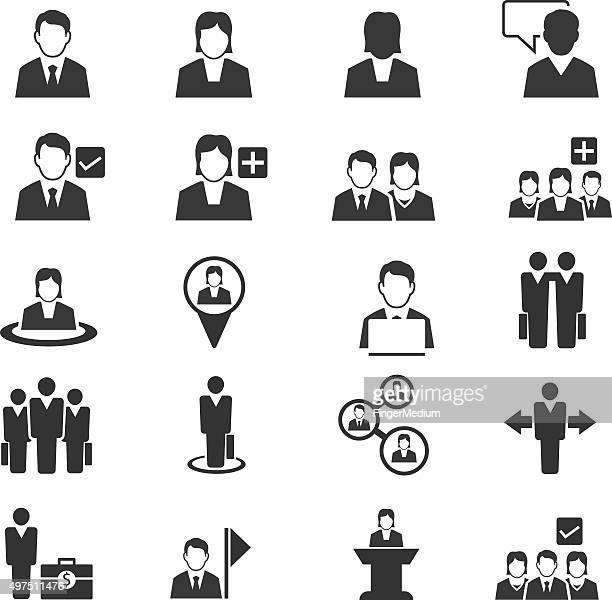 Personnes Ensemble d'icônes