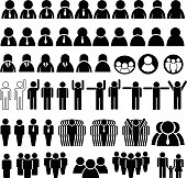 set of people icon and business icon, vector illustration
