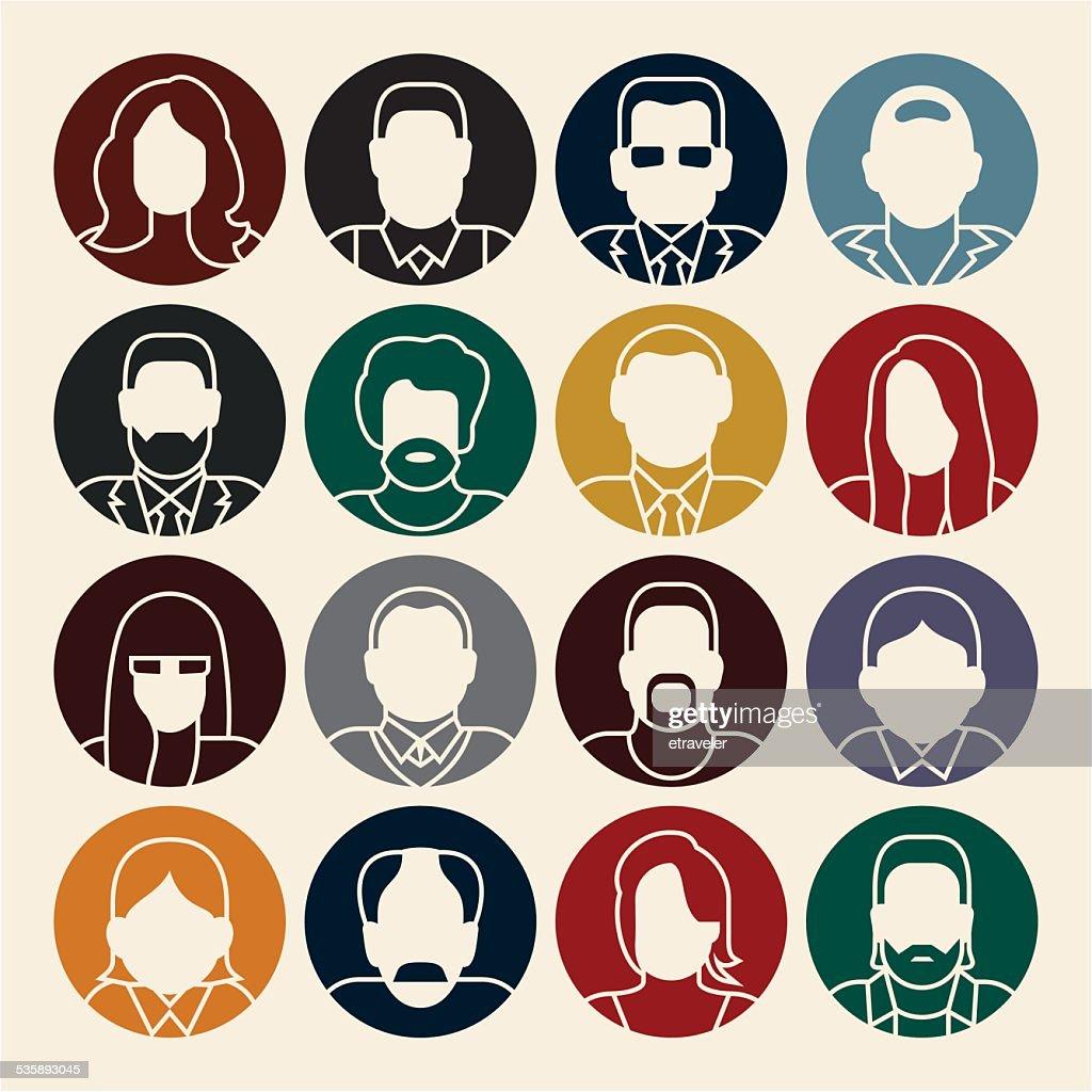 People icons. Avatars. : Vector Art