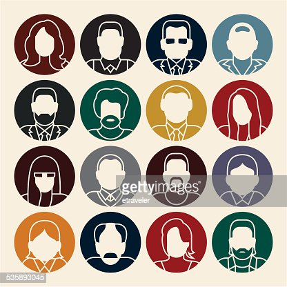 People icons. Avatars. : Vector Art