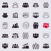 people icons, group of people, users