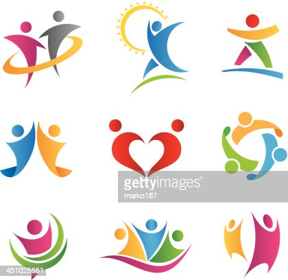 people in action icons vector art thinkstock