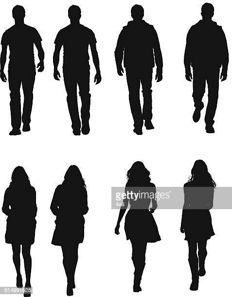 Personnes en tenue décontractée à pied