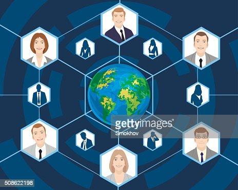 People in global business : Vector Art