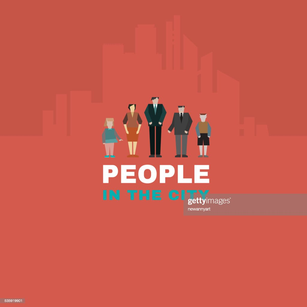People in the city : Vector Art