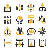 people management icon set,vector illustration