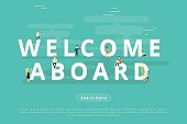 People on Welcome Aboard for Web and Mobile App Presentations