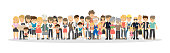 People on white background. Concept of big family, network community.