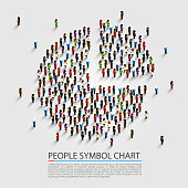 People sign chart, People cover, Vector illustration