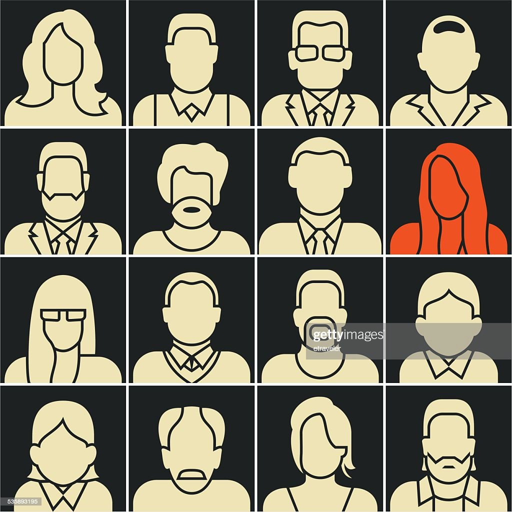People silhouettes : Vector Art