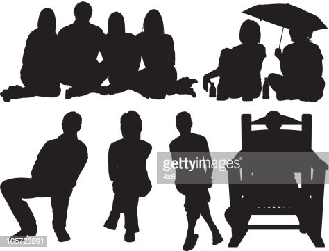People sitting together   Vector Art. People Sitting Together Vector Art   Getty Images