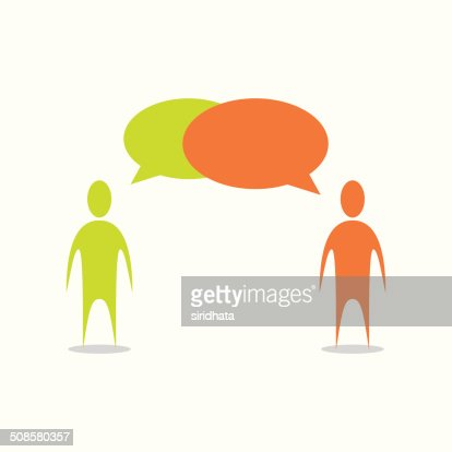 People Talking Illustration : Vektorgrafik