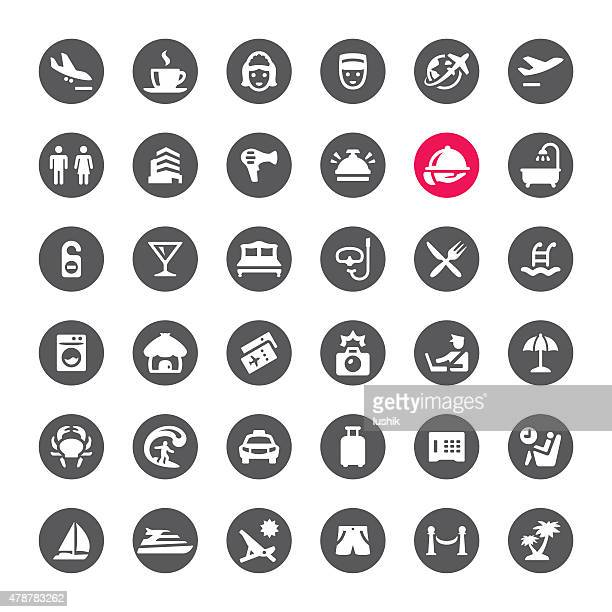 Viaggio icone vettoriali di persone