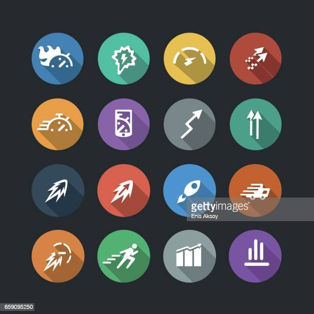 Performance Flat Icons