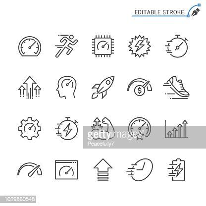 Performance line icons. Editable stroke. Pixel perfect. : stock vector